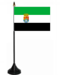 Extremadura Desk / Table Flag with plastic stand and base.